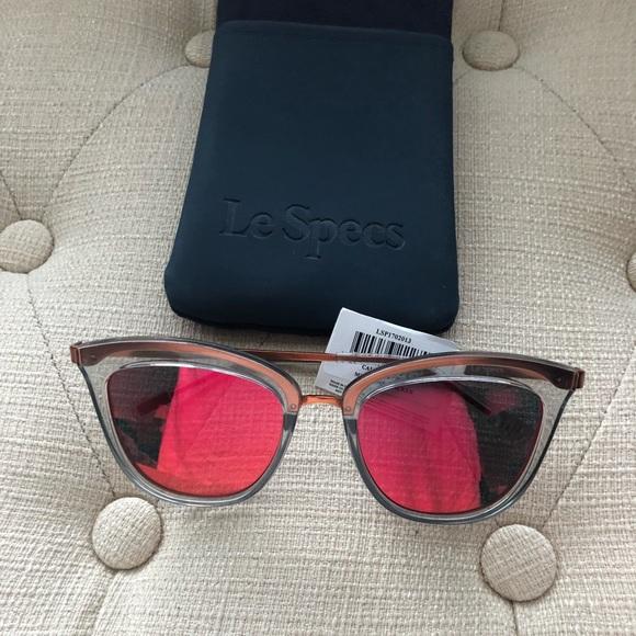 00a8dd9ae7cbd NWT Le Specs Caliente Cat Eye sunglasses